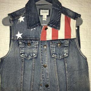 Forever 21 American Flag Vest